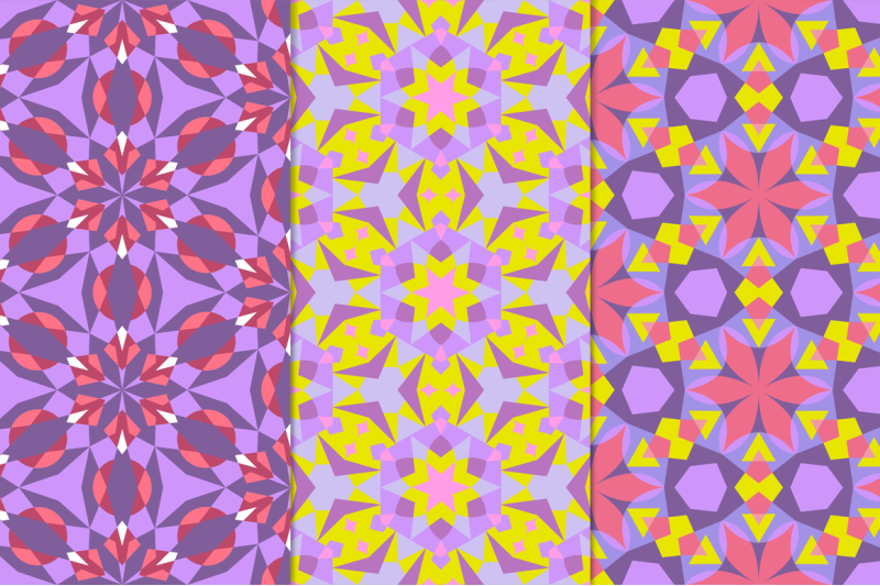 12-kaleidoscope-seamless-patterns