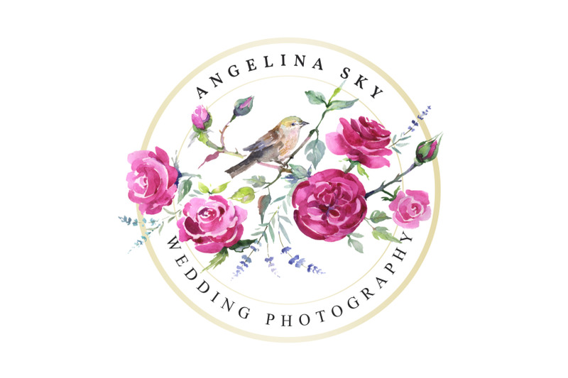 logo-with-roses-and-bird-watercolor-png