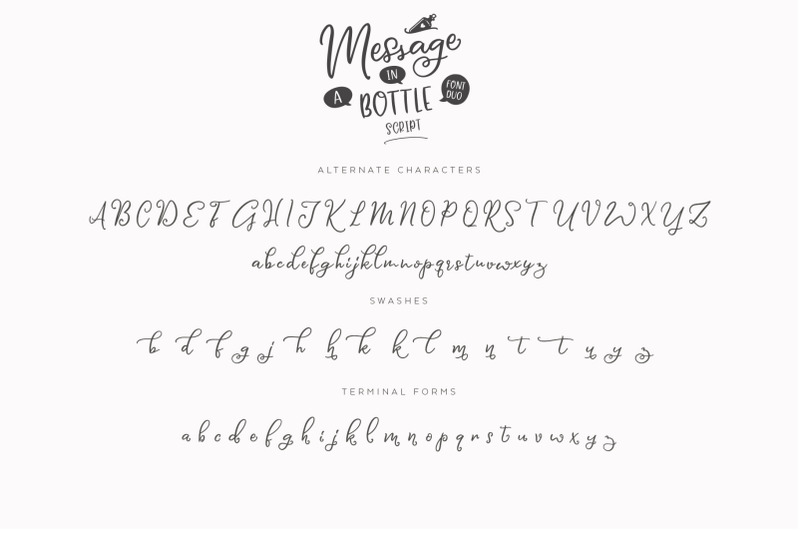 message-in-a-bottle-font-duo-extras