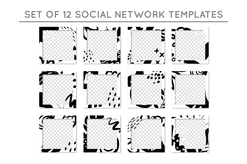 social-network-templates-elements