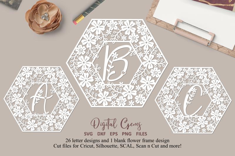alphabet-hexagon-flower-paper-cut-designs