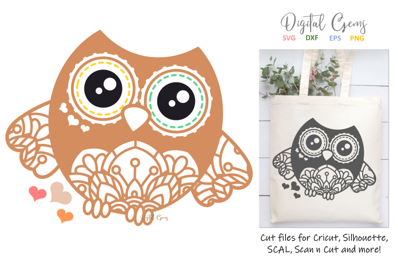 owl-svg-dxf-eps-png-files