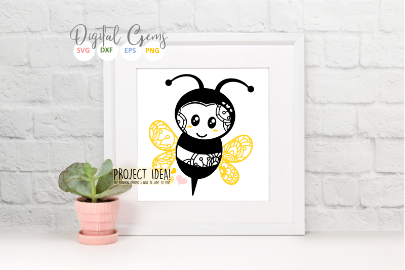 Bee Svg Dxf Eps Png Files By Digital Gems Thehungryjpeg Com