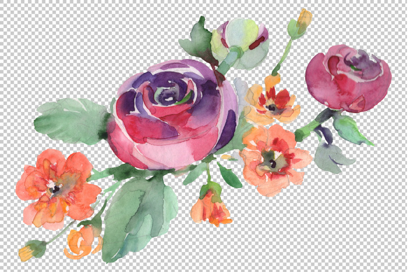 bouquet-hello-summer-watercolor-png