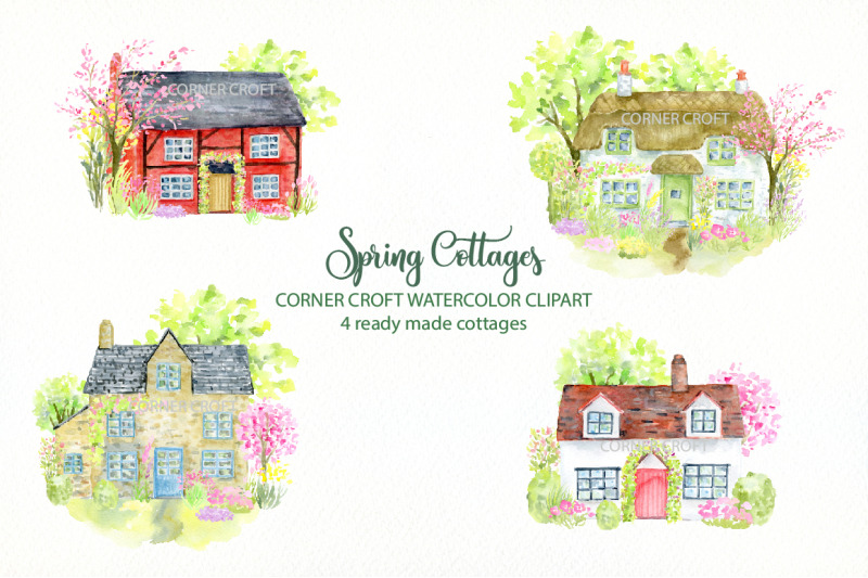 spring-cottages-clipart