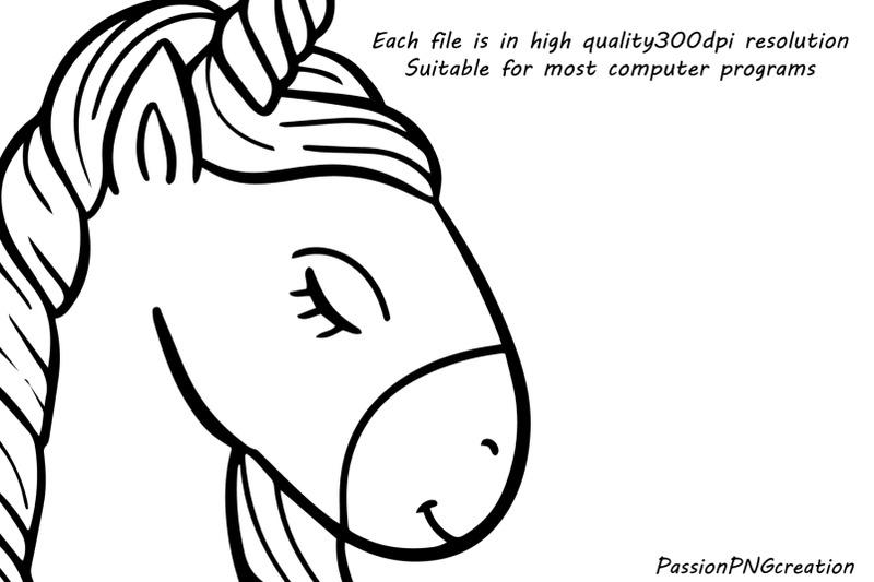 doodle-unicorn-clipart