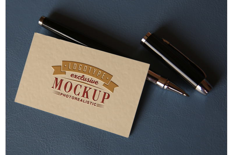 Free Photorealistic mock-ups with pens on business background (PSD Mockups)