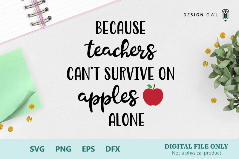 Because Teachers Can T Survive Svg File By Design Owl