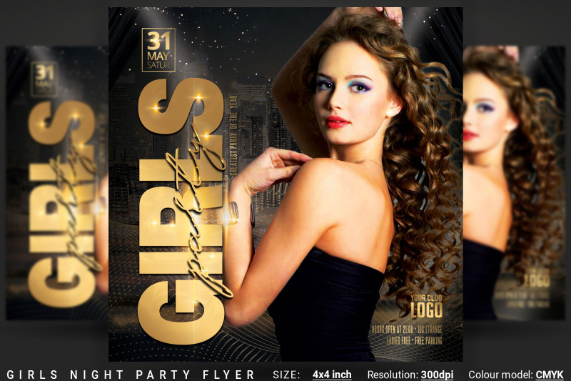 girls-night-party-flyer