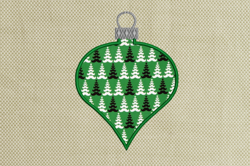 Glass Onion Christmas Ornament Applique Embroidery By Designed