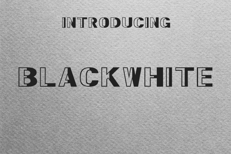 blackwhite-font
