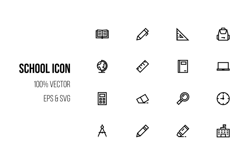 school-icon-in-line-style