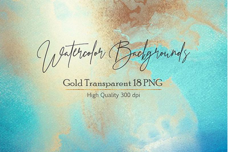 blue-gold-watercolor-backgrouns