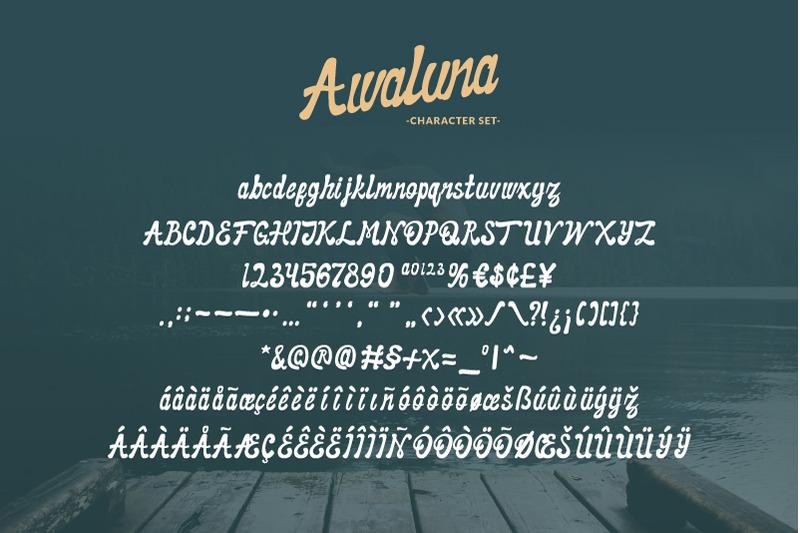 awaluna-font