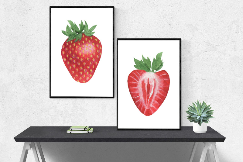 set-of-strawberry-watercolor-pattern-strawberry-berry-watercolor-illus