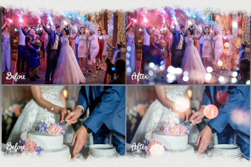 100 Bokeh Lights Effect Photo Overlays Christmas Wedding By 2suns