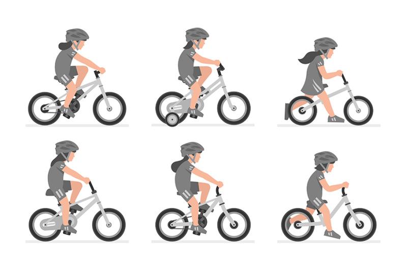 set-of-girls-riding-bike