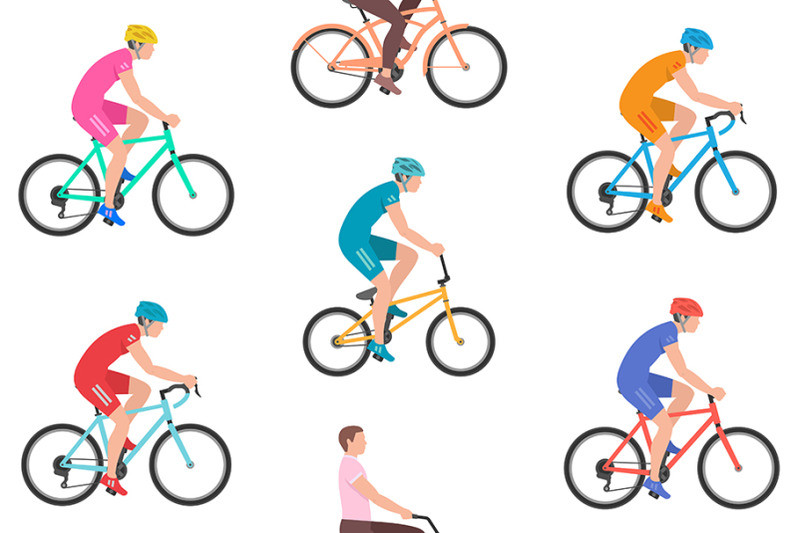 pattern-with-men-riding-bicycles