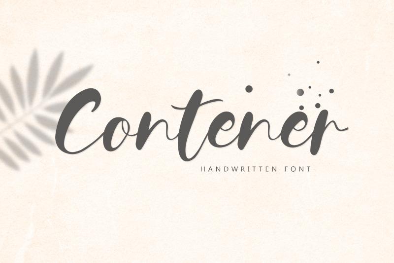 contener-handwritting-font