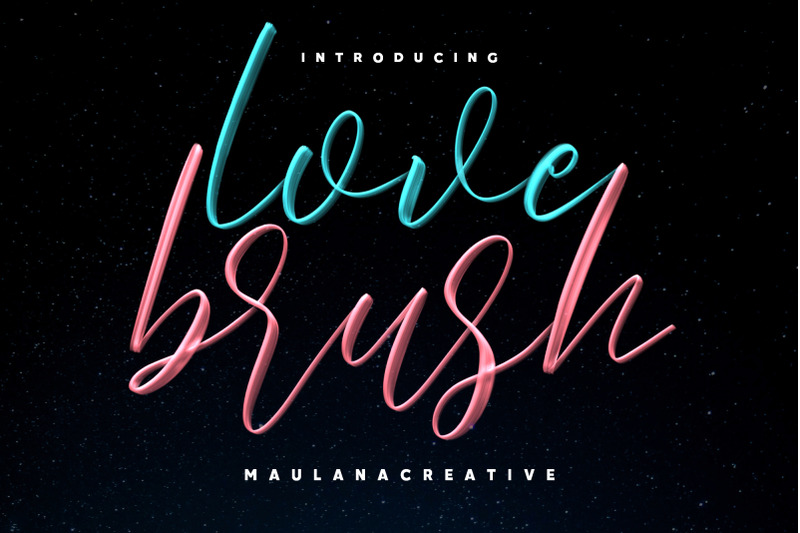 Download Love Brush SVG - Free Sans Font Family From Maulana