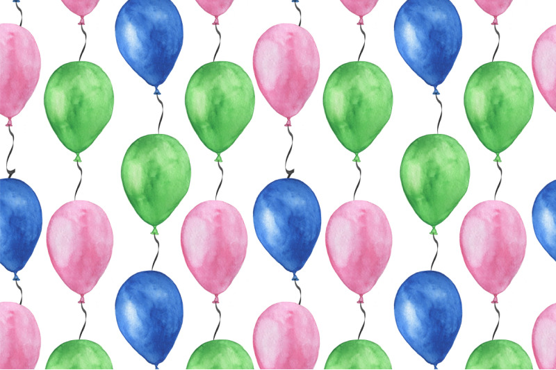 set-birthday-watercolor-seamless-pattern-birthday-watercolor-watercolo