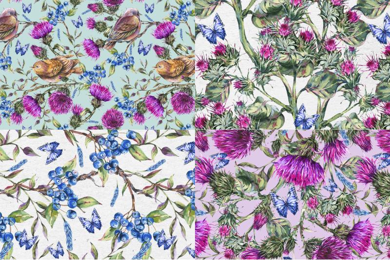 thistle-flowers-digital-pattern