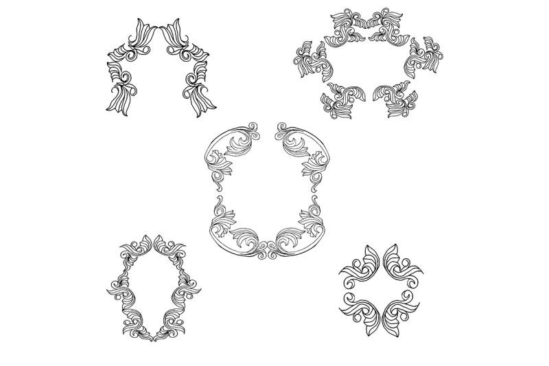 vector-set-of-vintage-frames