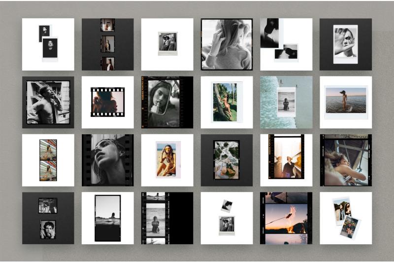 50 Film Frames Instagram Templates Social Media Kit By
