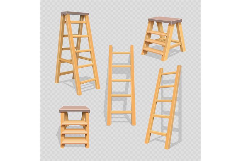 wood-household-steps-set-on-transparent-background