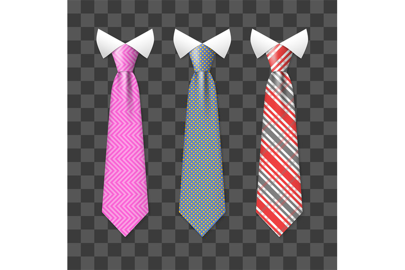 colorful-realistic-neck-ties-set-isolated-on-transparent-background