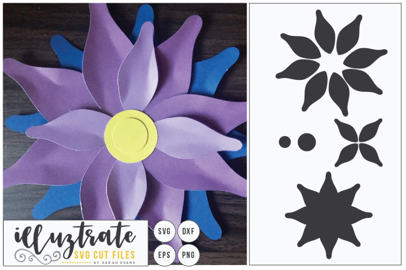 paper-cutting-flower-svg-cut-file-diy-3d-flower-cut-file-dxf-cut