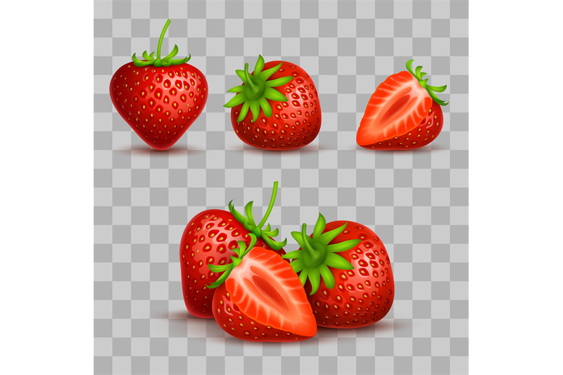 vector-realistic-sweet-and-fresh-strawberry-isolated-on-transparent-ba