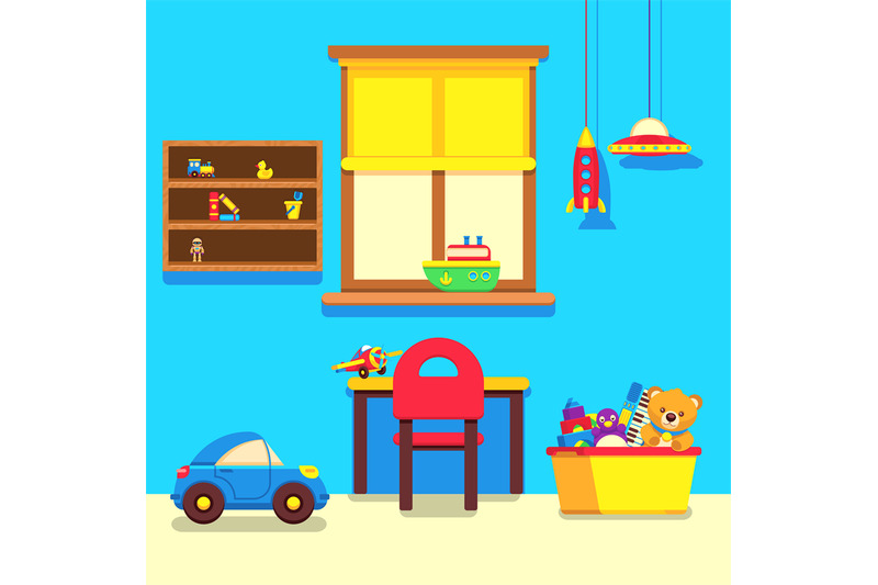 baby-room-interior-with-window-work-place-and-toys-collection