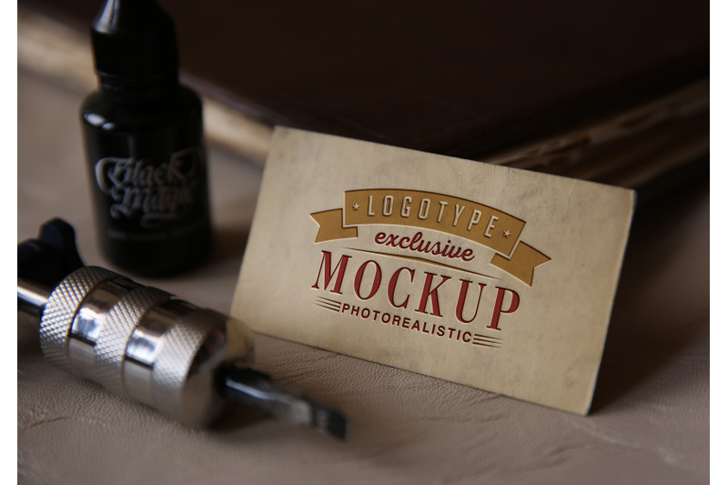 Free Photorealistic mock-ups with tattoo machine (PSD Mockups)
