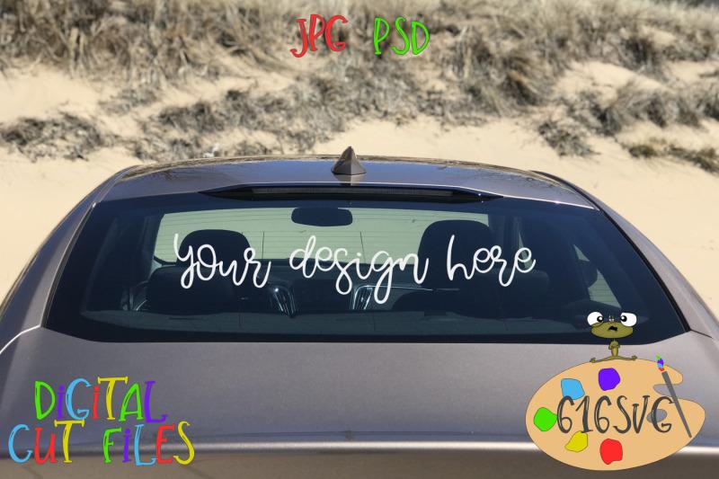 car-mockup-full-rear-view-beach-scene