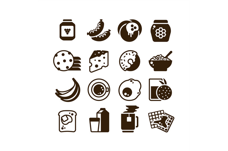 breakfast-food-vector-silhouette-icons-isolated