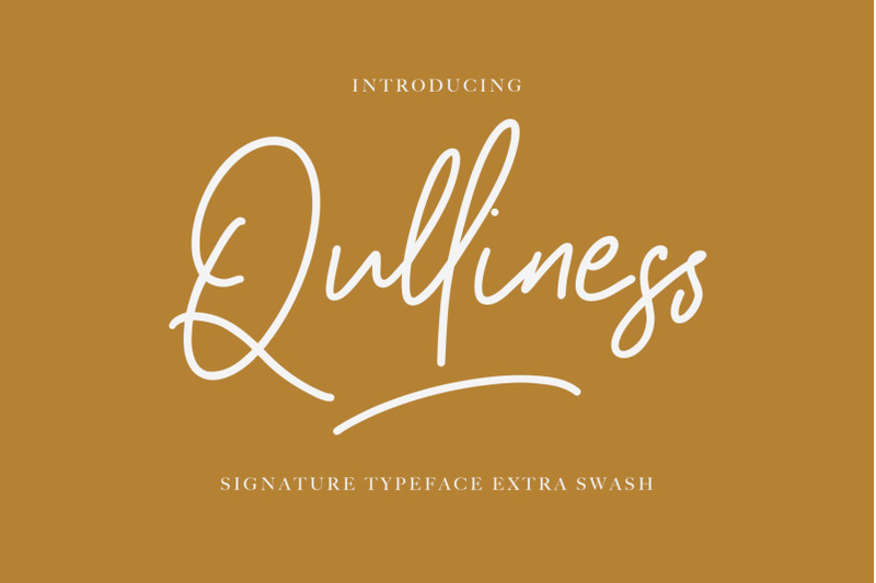 qulliness-signature-font