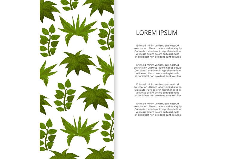 flat-green-plants-banner-design
