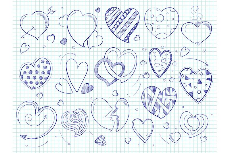 cute-doodle-hearts-love-ball-pen-drawn