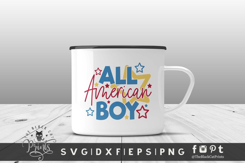 all-american-boy-svg-dxf-eps-png