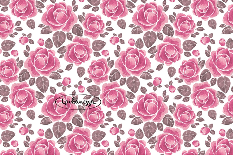 pattern-with-roses-watercolor