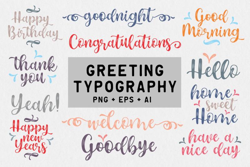 greeting-typography