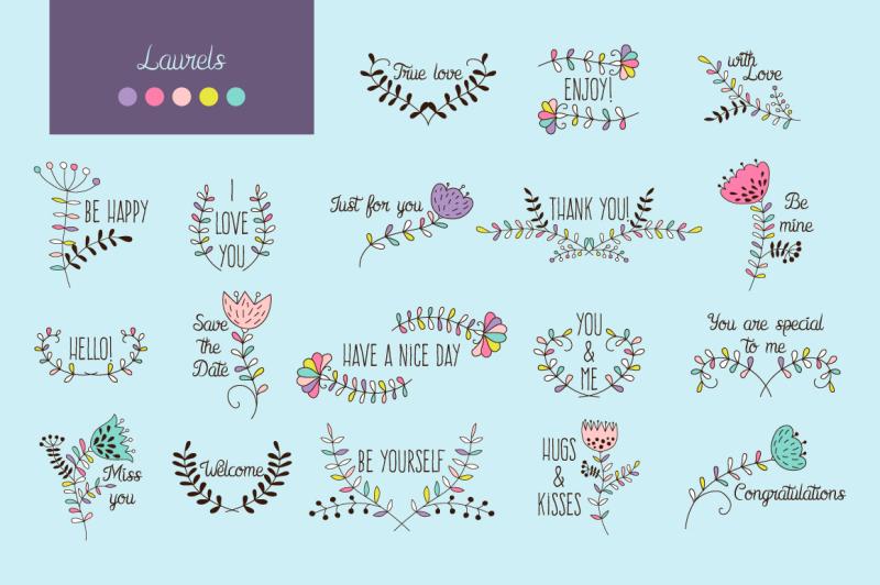 floral-vector-elements-set-pattern