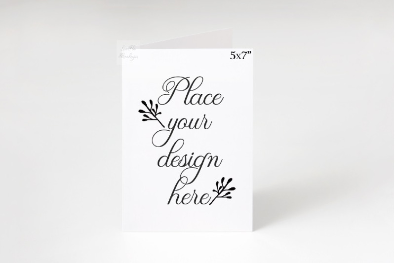 "Free Greeting card portrait 5x7"" mockup psd vertical mock up minimal (PSD Mockups)"