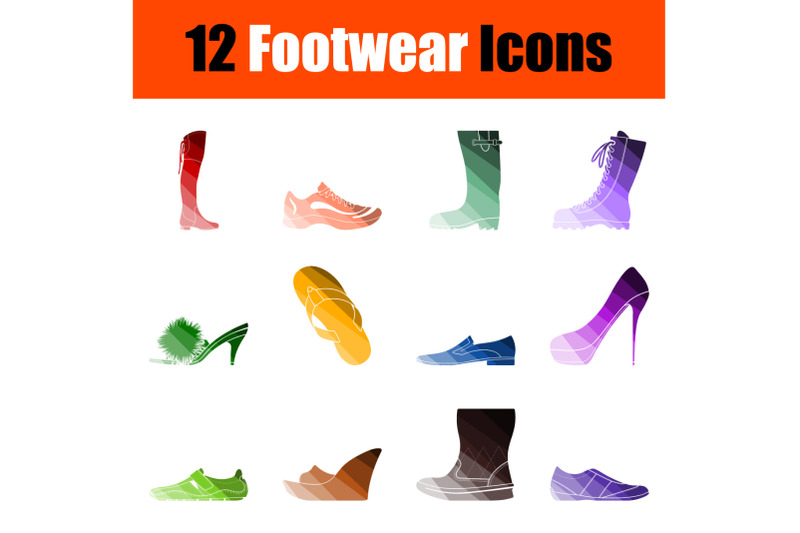 footwear-icon-set