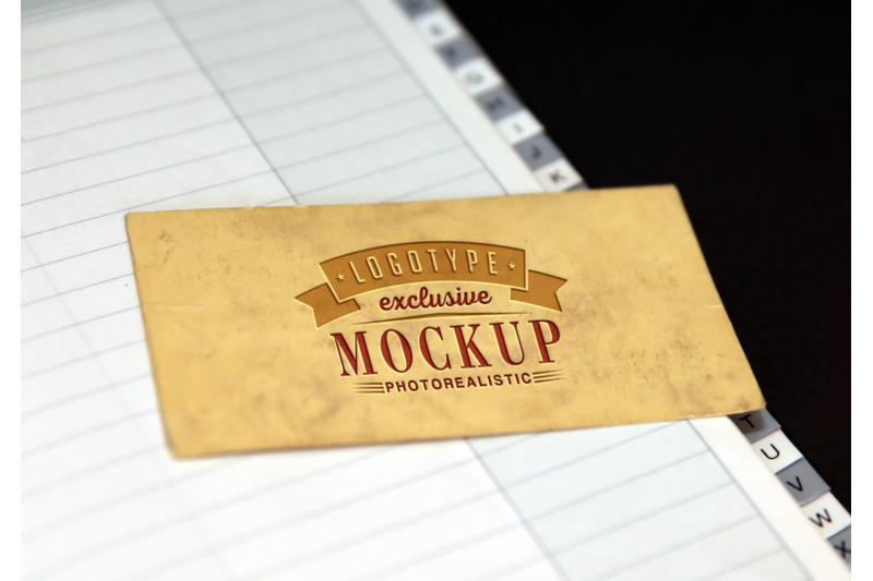 Free Photorealistic mock-up with notebook on background (PSD Mockups)