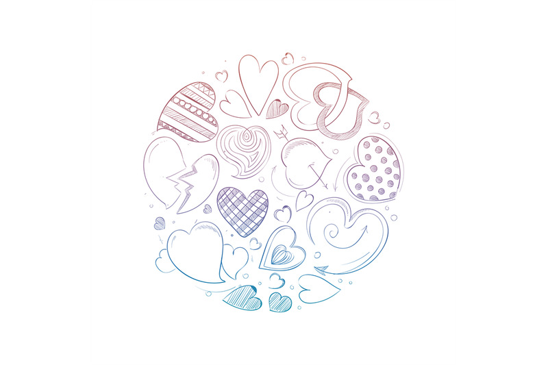 hand-drawn-hearts-round-concept
