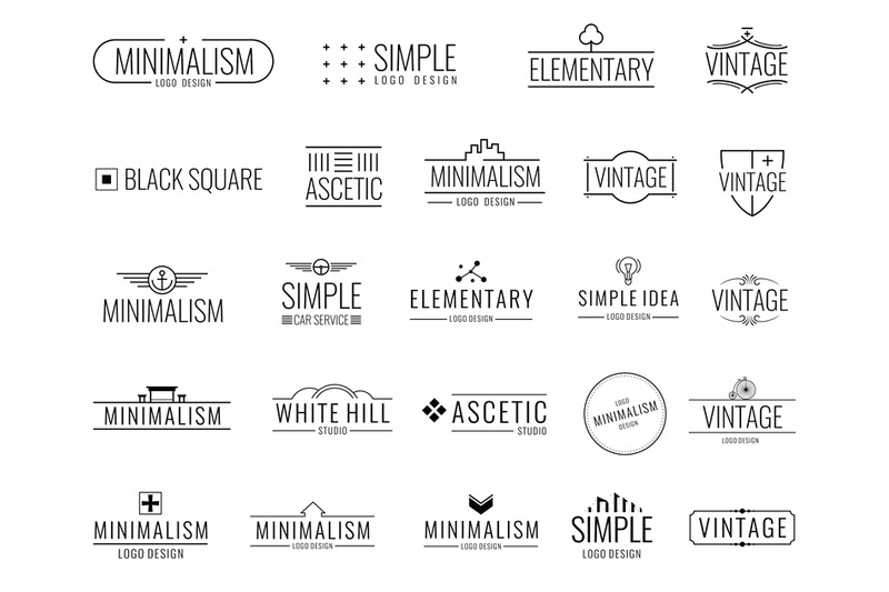 vintage-minimal-vector-logos-with-simple-shapes-modern-luxury-emblems