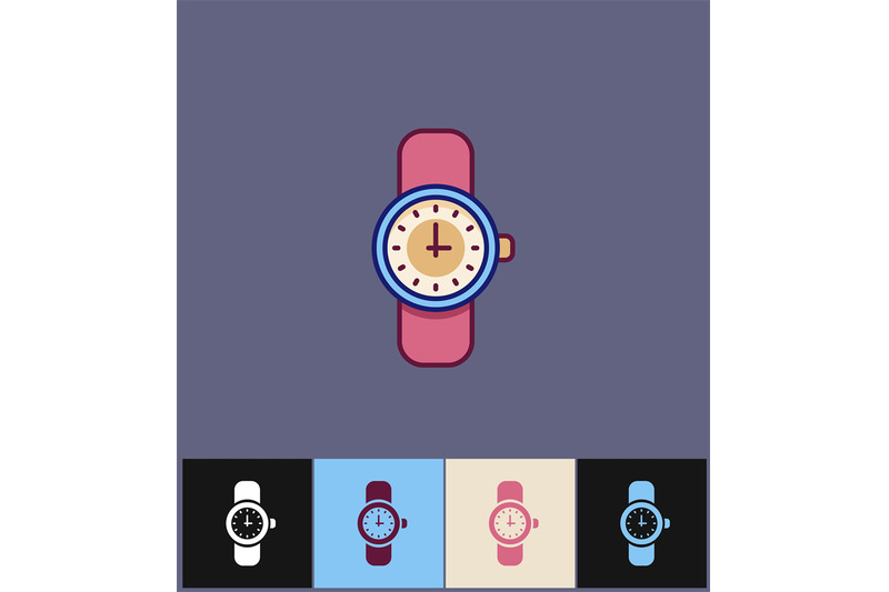 clock-icon-flat-vector-illustration-on-different-colored-backgrounds