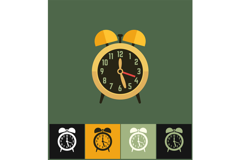 clock-icon-flat-vector-illustration-on-colored-backgrounds-golden-an